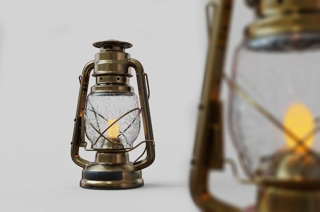 Lanterne de style ancien avec fond