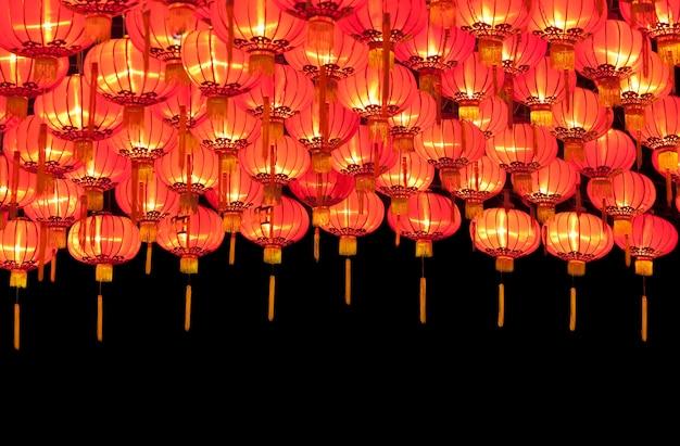Lanternes chinoises rouges