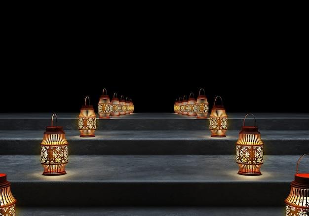 Lanternes du ramadan kareem.
