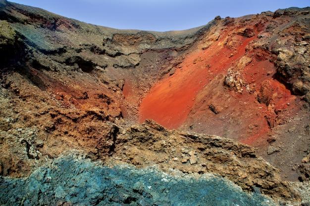 Lanzarote timanfaya pierre de lave colorée