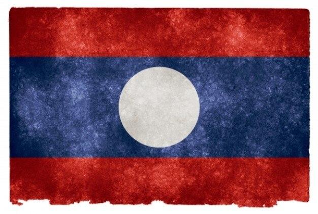 Laos drapeau grunge