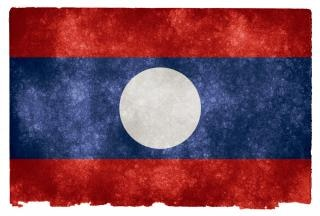 Laos laotien grunge flag