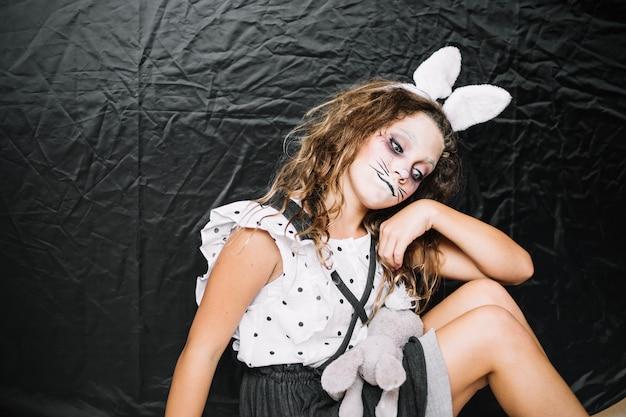 Lapin triste avec lapin