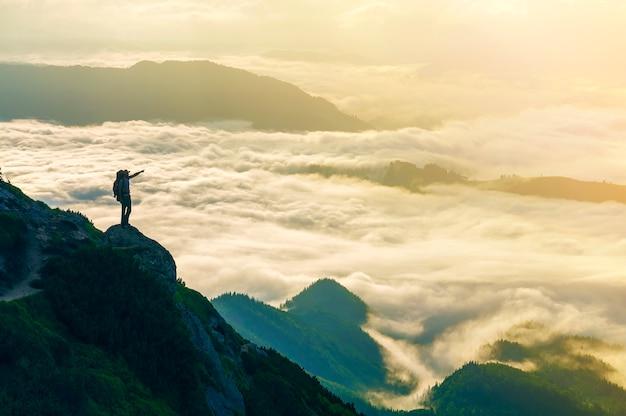 Large panorama de montagne