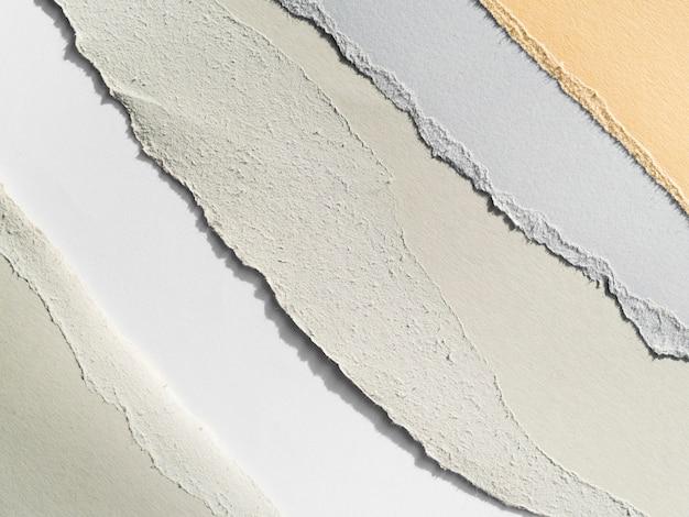Larmes de papier de couleur pastel