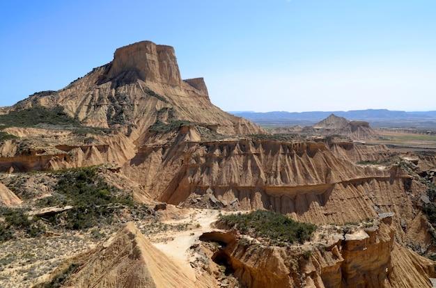 Las bardenas reales, réserve naturelle et réserve de biosphère, navarra, espagne