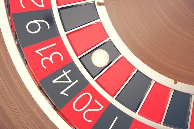 Las vegas casino roulette, casino roulette game, casino gambling concept rendu 3d.