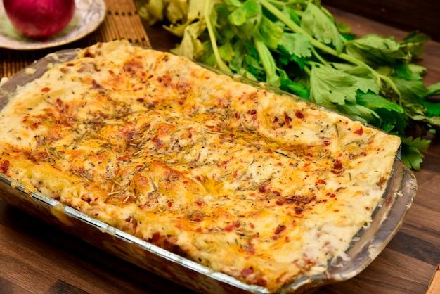Lasagne au bœuf photographie alimentaire
