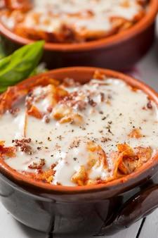 Lasagne italienne maison cuite au four
