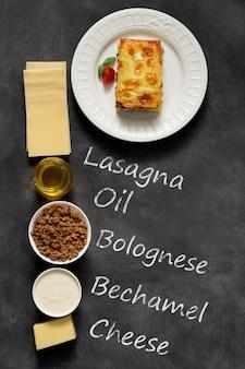 Lasagne italienne traditionnelle à base de viande de bœuf hachée
