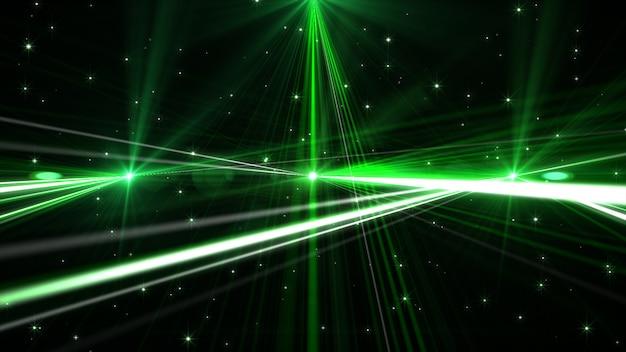 Laser vert luisant clignotant