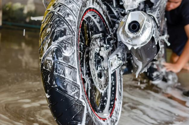 Lavage de moto