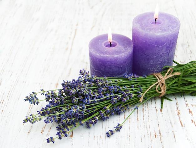 Lavande et bougies