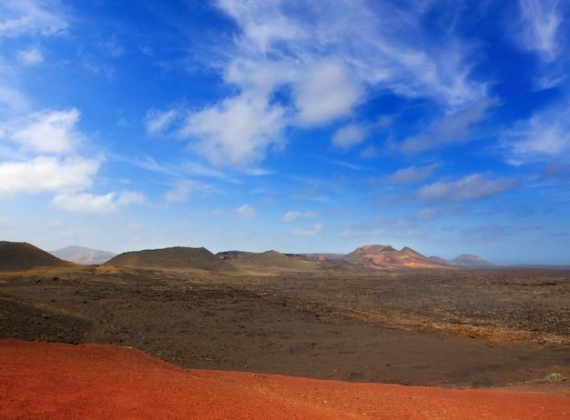 Lave volcanique de lanzarote timanfaya fire mountains