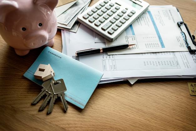 Lay plat du concept immobilier