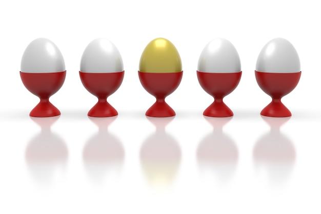 Leader meilleur concept unique différent et individuel