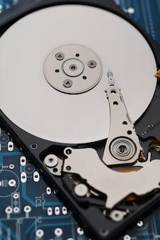 Lecteur de disque dur ouvert