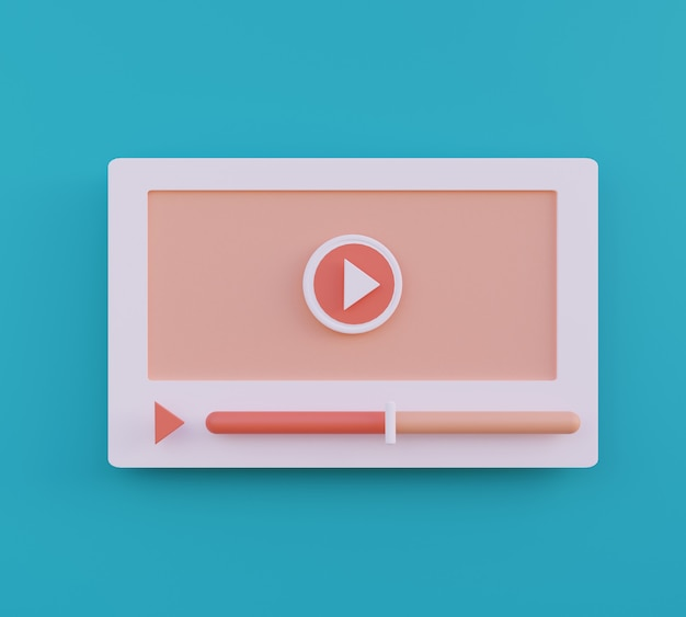 Lecteur vidéo web concept de médias sociaux illustration de l'icône de lecture vidéo