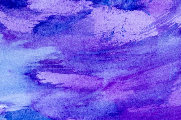 Légères taches d'aquarelle colorées. abstrait peint