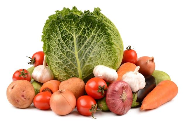 Légumes sur un blanc