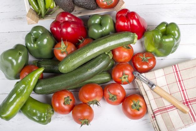 Légumes sur bois