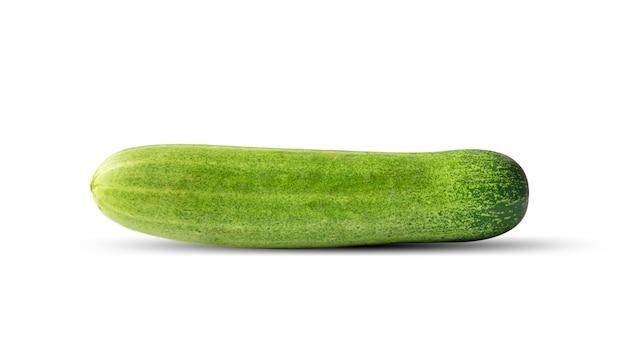 Légumes concombre isolés sur fond blanc avec le chemin de détourage.