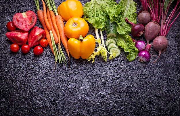 Légumes de couleur arc-en-ciel.