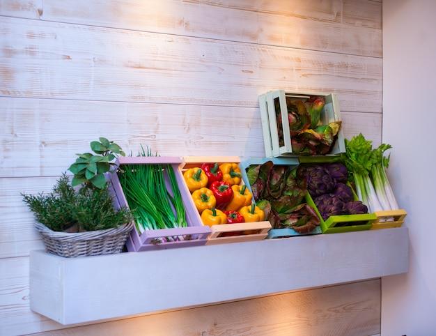 Légumes dans les boites