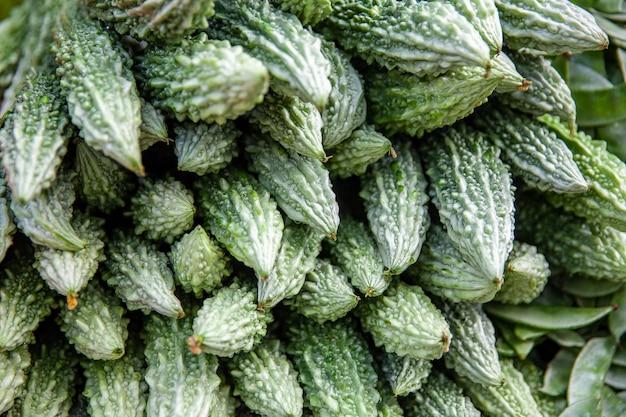 Légumes debout en asie avec des melons amers