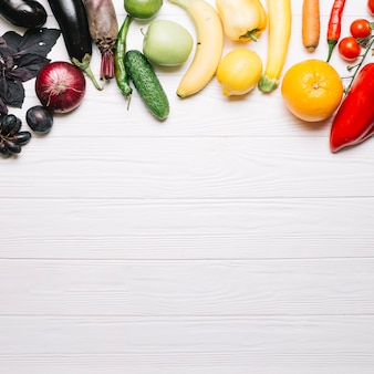 Légumes dégradés colorés