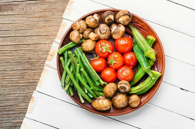 Légumes fraîchement grillés