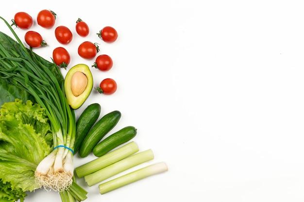 Légumes frais à l'avocat