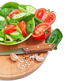 Légumes frais sur blanc