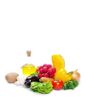 Légumes frais isolés