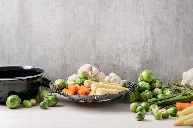 Légumes frais prêts à cuire
