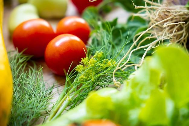 Légumes frais se bouchent