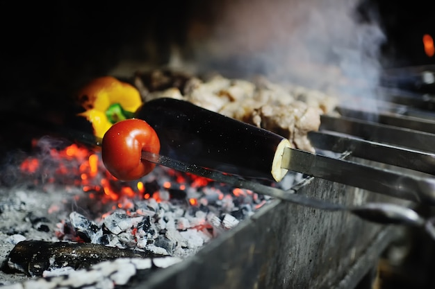 Légumes sur le grill