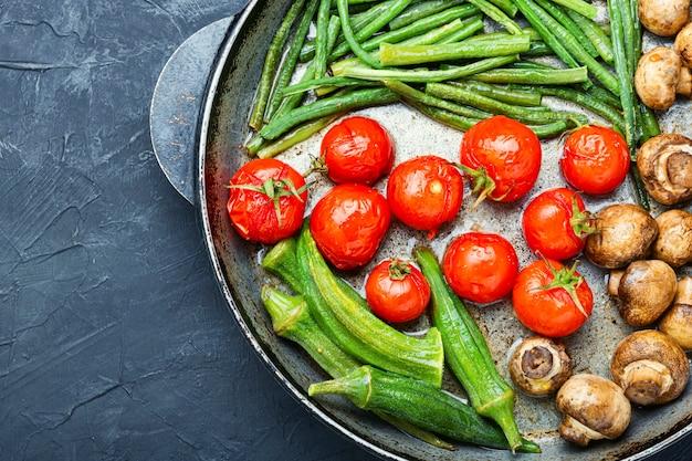 Légumes grillés à la poêle