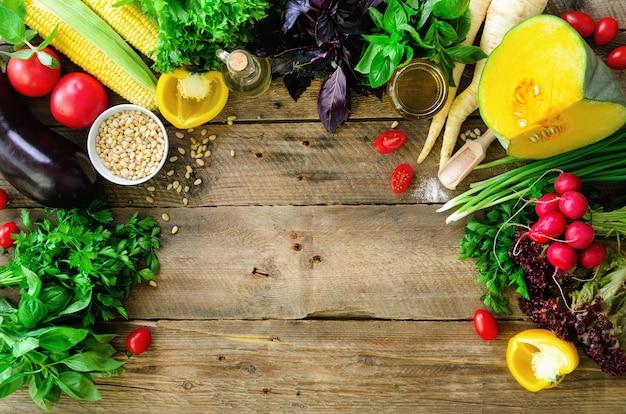 Légumes et ingrédients de cuisine