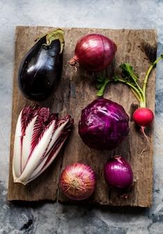 Légumes pourpres
