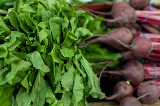 Légumes sains en gros plan.