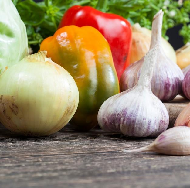Légumes sur la table