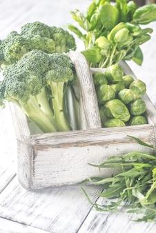 Légumes verts aux herbes