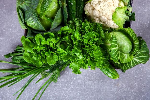 Légumes verts. concept d'alimentation saine ou saine