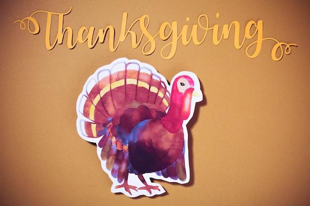 Lettrage de thanksgiving avec la turquie