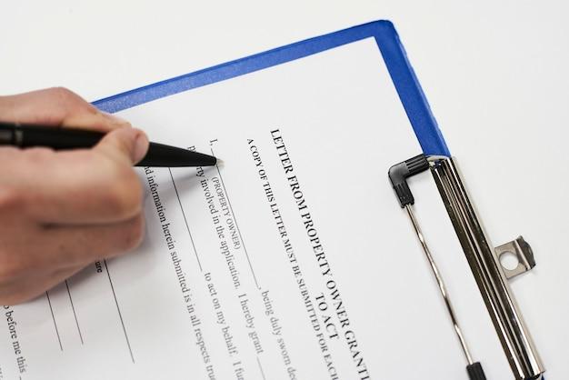 Lettre d'autorisation de propriété