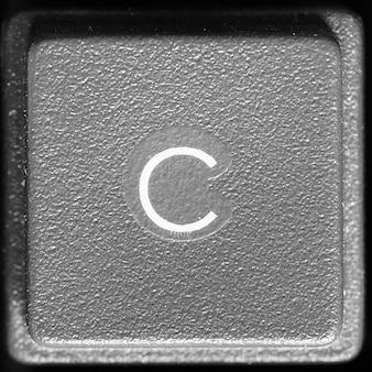 Lettre c sur clavier d'ordinateur