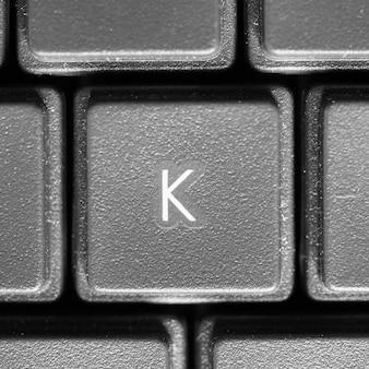 Lettre k sur clavier d'ordinateur