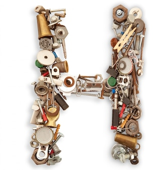 Lettre mécanique isolée h