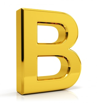 Lettre or b